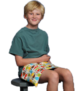 Child With Washable, Weighted Lap Pad By Grampa's Garden - Weighted Comfort Solutions